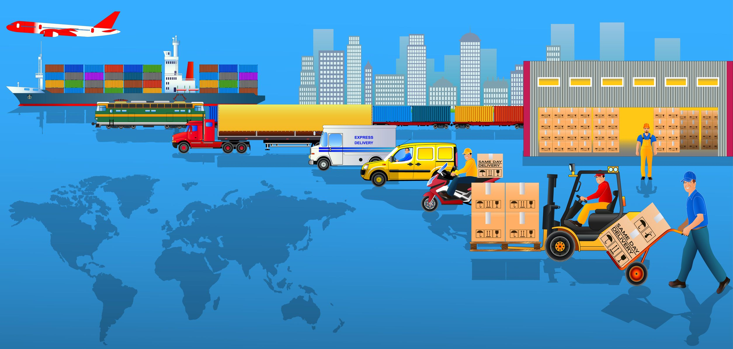 Globalization of logistics